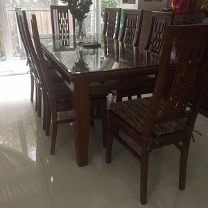 Bán bộ bàn ăn 8 ghế gỗ xoan đào